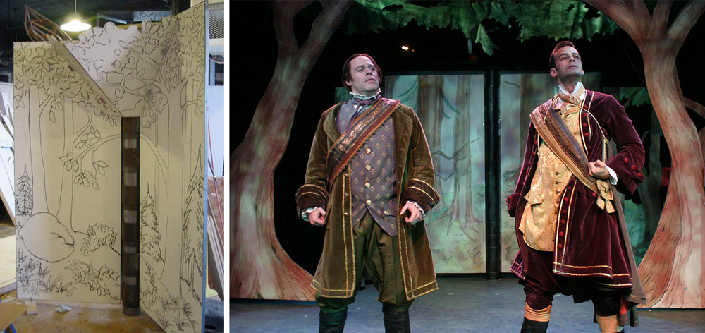 Peter Colao's scenic design for Into the Woods at New Repertory Theatre
