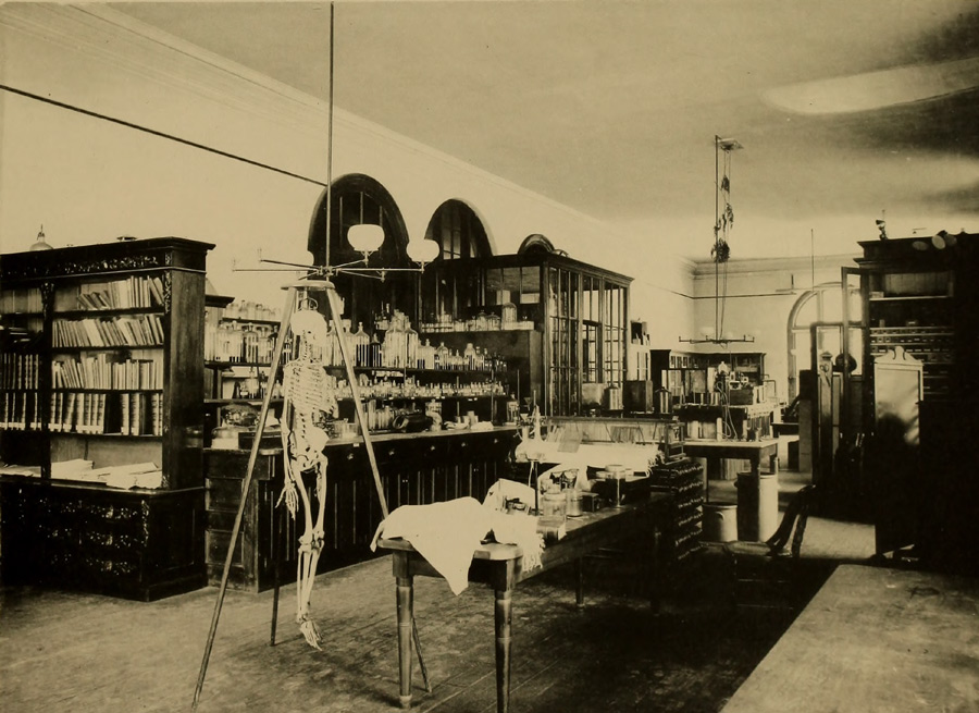 An MIT Biology lab in the 19th century