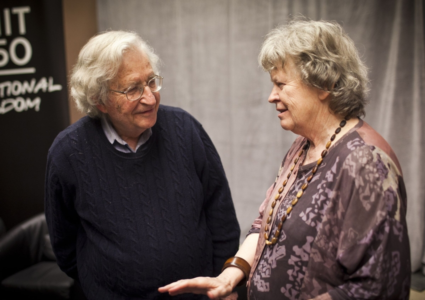 Noam Chomsky and Barbara Partee in conversation