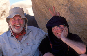 French chef Pierre Gagnaire with Owen Franken (right) in Algeria, on a private trip.