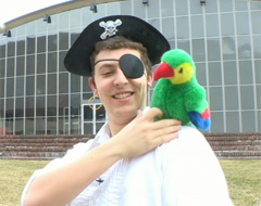 Sophomore Jacob Hurwitz is an official MIT pirate.
