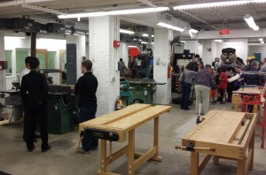 "The Shop hosted guests and supporters for an open house on Friday followed by a ""Build It"" workshop on Saturday."