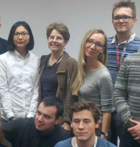 Amy Glasmeier with some of her students in the SkolTech program in Russia.