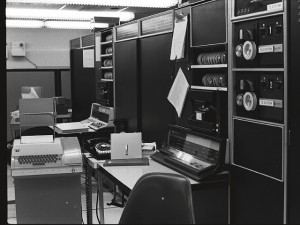Inboxes have come a ways since the first electronic message was sent between these two machines at MIT in 1971. Photo: Dan Murphy.