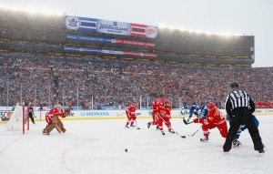 The 2014 NHL Winter Classic in Ann Arbor, Mich. Photo: Dave Sanford, Getty Images