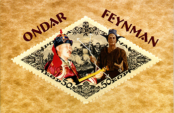 Mock up of Feynman Tuva Stamp Credit: Ralph Leighton