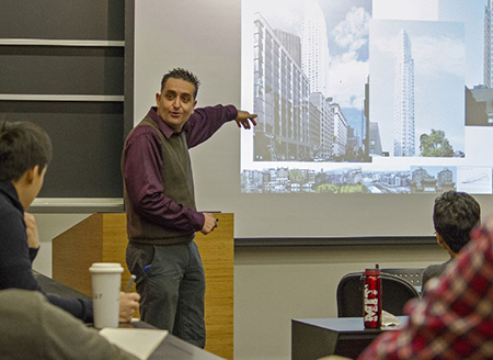 Albert Saiz, director of the Center for Real Estate, addresses students in 11.355, International Housing Econ and Finance. Image: MIT Technology Review