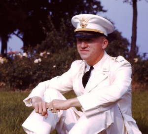 Smith '41, shortly after his graduation, in his dress white uniform.