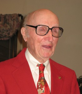Robert E. Smith '41 at his 90th birthday.