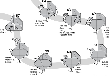 Origami Turkey Instructions   How To Make Paper Turkey - Simple ...   313x453