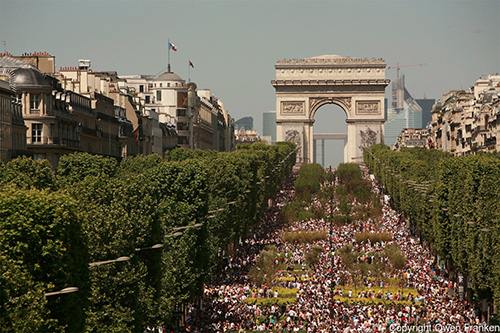 8000 planted plots installed on the Champs Elysées, as part of International Biodiversity Day, Paris, May 22, 2010 (© Owen Franken).