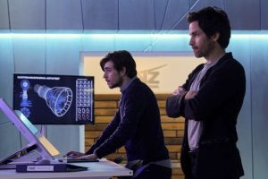 A fictional MIT grad student, left, discovers an asteroid heading toward Earth in CBS's Salvation.