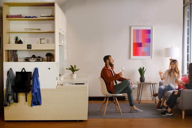 Ori Systems allows for movable furniture controlled by a robotic system that creates space on demand. Photo: Ori, Inc.