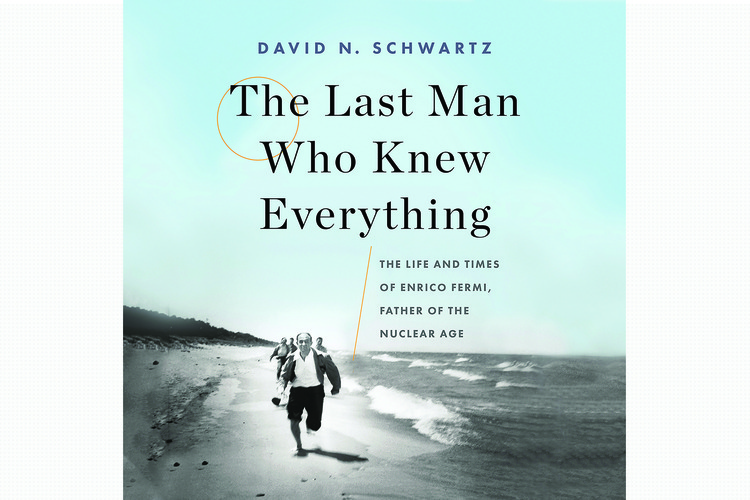 A photo of acclaimed scientist Enrico Fermi running down a beach, vying to beat his peers in a race, is a fitting metaphor for Fermi's life and career, says biographer David N. Schwartz PhD '80.