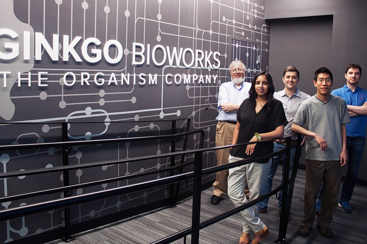 Shetty along with the Ginkgo Bioworks cofounders.