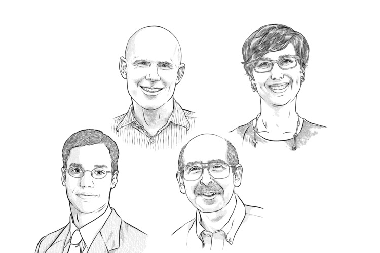 Illustrations of alumni featured in the book Find Your Path