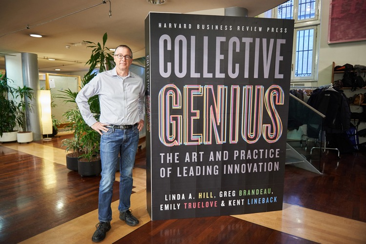 Brandeau's book is titled Collective Genius: The Art and Practice of Leading Innovation.