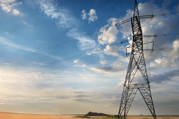 Power transmission station in India