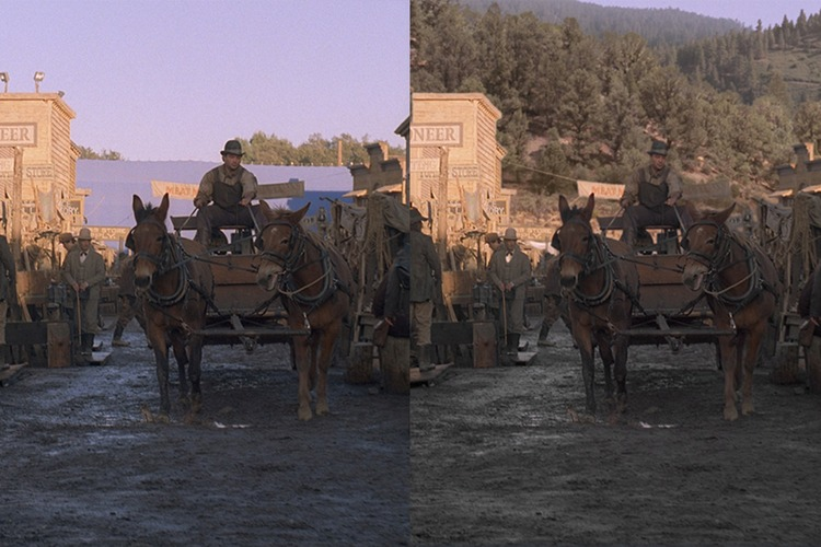 Visual effects from the TV show Deadwood.
