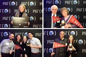 MIT alumni posing at MIT Better World (London)