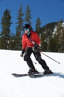 George Basch '59 skiing in Taos
