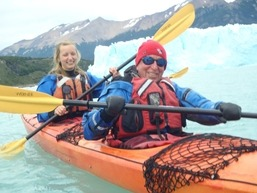 George Basch '59 in a kayak in Patagonia