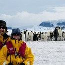 Linda Cornfield SM '89 and her husband in Antarctica