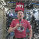 Screenshot from a Q&A livestream with Jack Fischer on the International Space Station