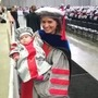 Alejandra Falla PhD '18 and her infant daughter.