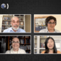 A grid of four online speakers with the MIT Better World logo